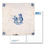 Carte postale, tuile bleue de Delft Toupie enfant