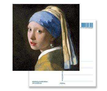 Carte postale, fille avec une boucle d'oreille perle, Vermeer