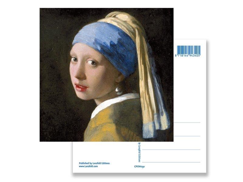 Postkaart , Meisje met de parel, Vermeer