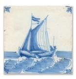 Postkarte, Delfter blaue Fliese Scheepje