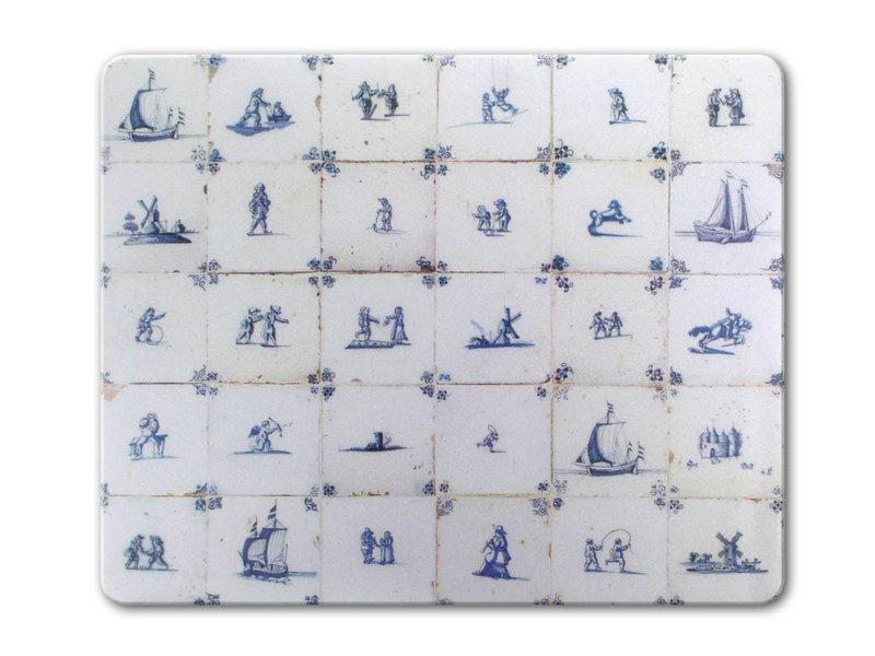 Mauspad, Delfter Blaue Fliesen, Zeitraum 1620-1750