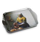Bandejas de servicio , mini melamina, 21 x 14 cm,Vermeer, la lechera