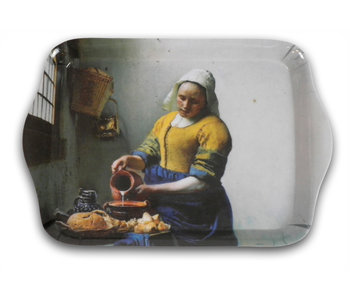 Serviertabletts, Mini Melamin, 21 x 14 cm, Vermeer, die Milchmagd