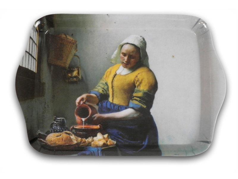 Plateaux de service, Mini mélamine, 21 x 14 cm,Vermeer, la laitière