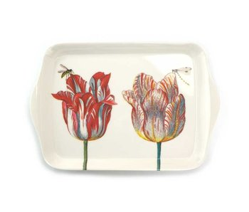 Mini tray, 21 x 14 cm, Two tulips with insects, Marrel