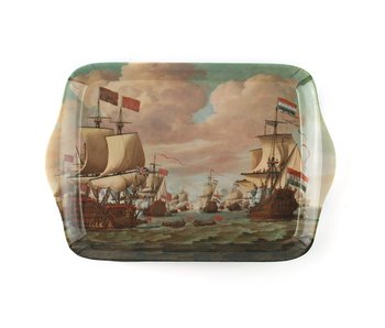 Mini dienblad , 21 x 14 cm, Schepen te zee , Van de Velde