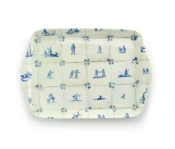 Mini tray, 21 x 14 cm, Delft blue tiles