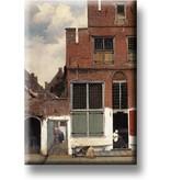 Kühlschrankmagnet, kleine Straße von Vermeer