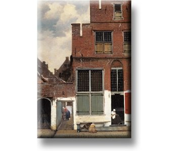 Magnet pour réfrigérateur, Petite rue de Vermeer