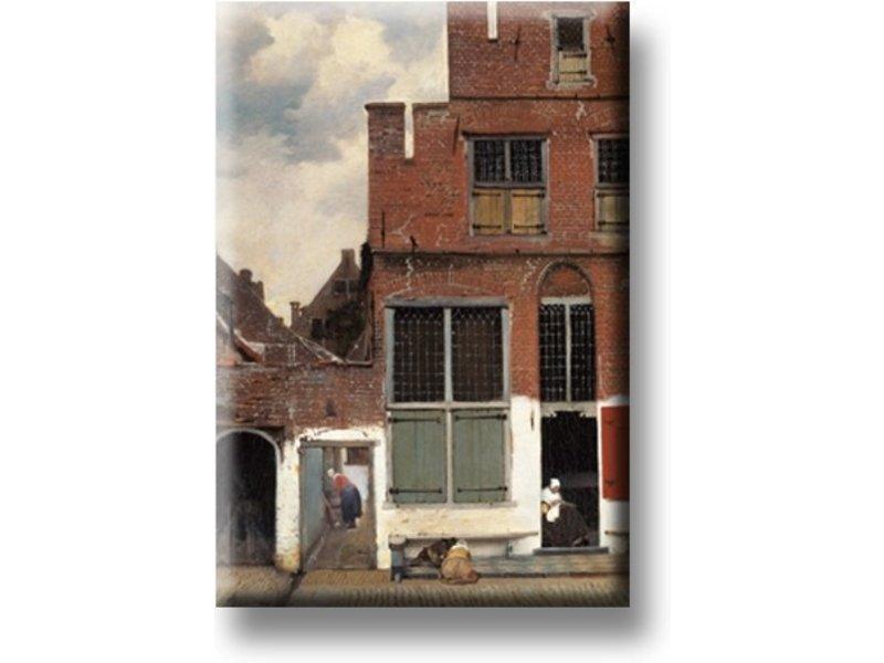 Magnet pour frigo, Petite rue de Vermeer