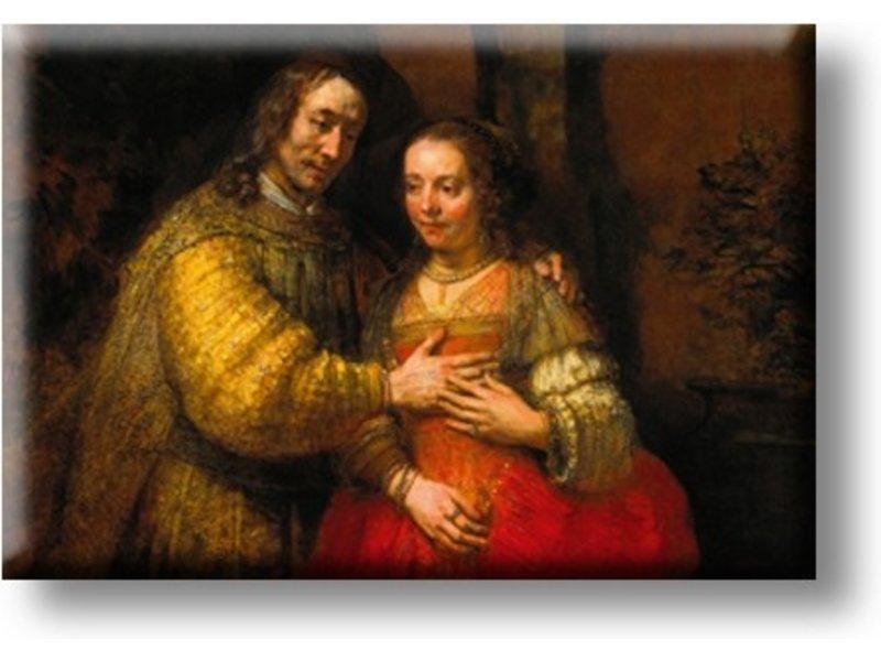 Koelkast magneet, Het Joodse Bruidje, Rembrandt