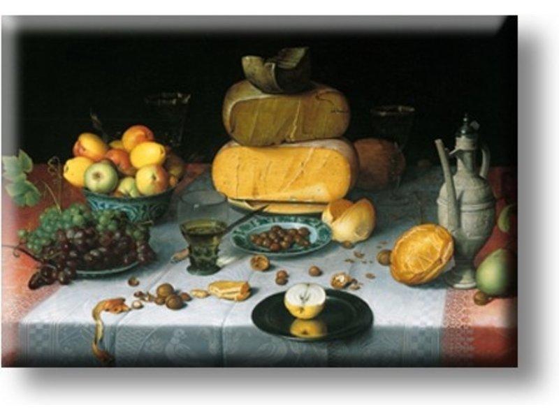 Magnet frigo, Nature morte aux fromages, Van Dijck