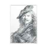Fridge Magnet, Self-Portrait Leaning on a Stone Sill, Rembrandt
