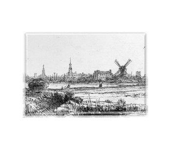 Imán de nevera, Vista de Amsterdam, Rembrandt