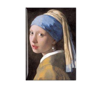 Magnet de réfrigérateur, fille avec une boucle d'oreille perle, Vermeer