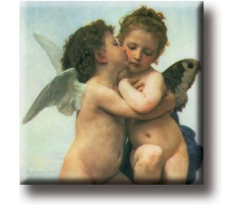 Fridge magnet, The first kiss, Bouguereau