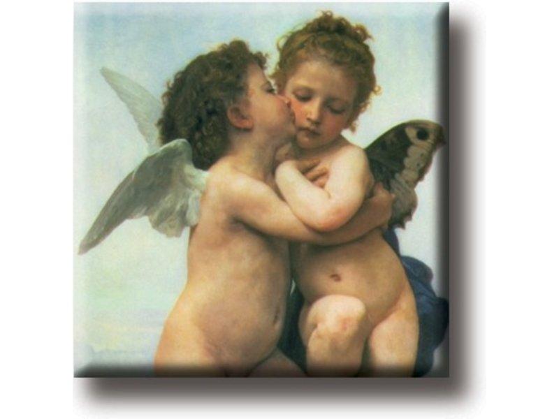 Aimant frigo, Le premier baiser, Bouguereau