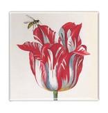 Koelkastmagneet, Rode tulp met bij, Marrel