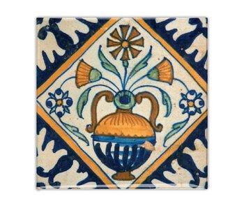Fridge magnet, Delft blue tile, Flower vase