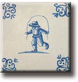 Fridge magnet, Delft blue tile, Children's games