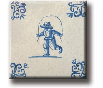 Kühlschrankmagnet, Delfter blaue Fliese, Kinderspieleg
