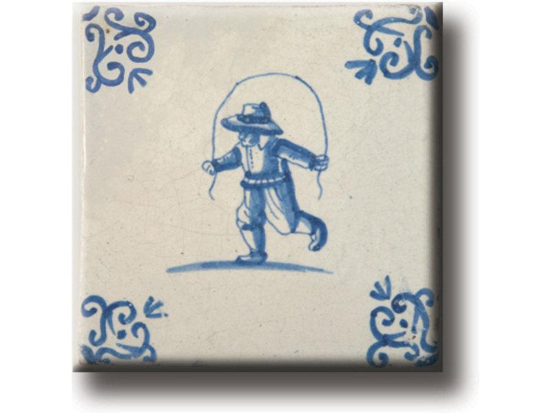 Kühlschrankmagnet, Delfter blaue Fliese, Kinderspiele