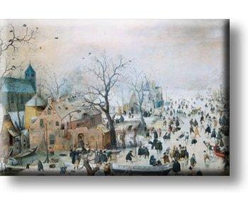 Imán de nevera, Paisaje de invierno, Avercamp