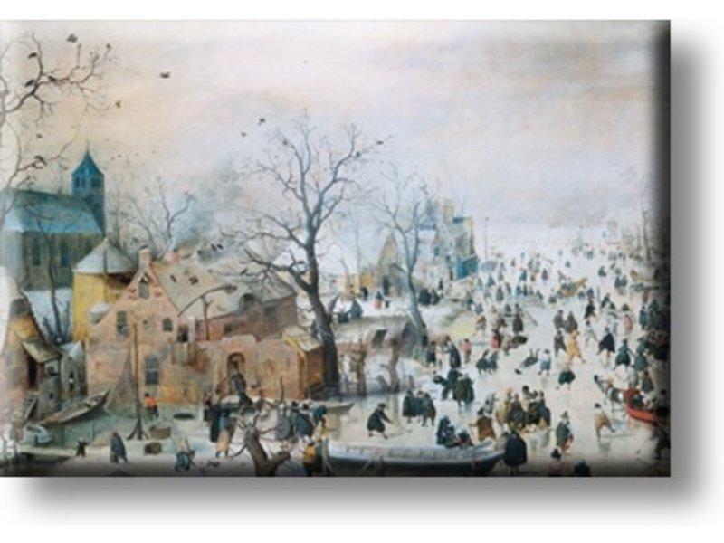 Koelkastmagneet, Winterlandschap, Avercamp