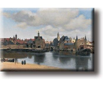 Koelkastmagneet, Gezicht op Delft, Vermeer