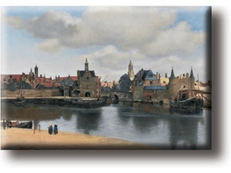 Imán de nevera, Vista de Delft