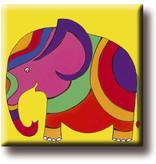 Fridge Magnet, Elephant, Illustration