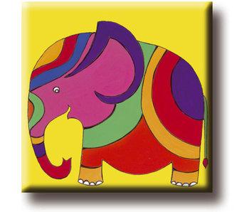 Aimant de réfrigérateur, éléphant, illustration