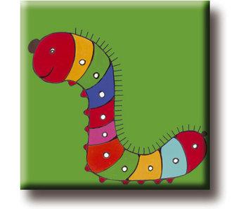Fridge Magnet, Caterpillar, Illustration