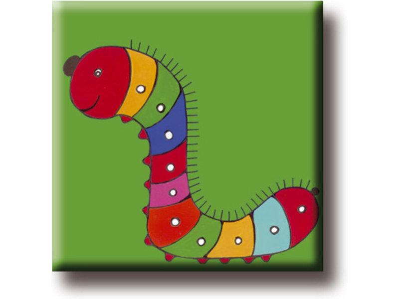Imán de nevera, Caterpillar, Ilustración