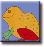 Aimant de réfrigérateur, grenouille, illustration