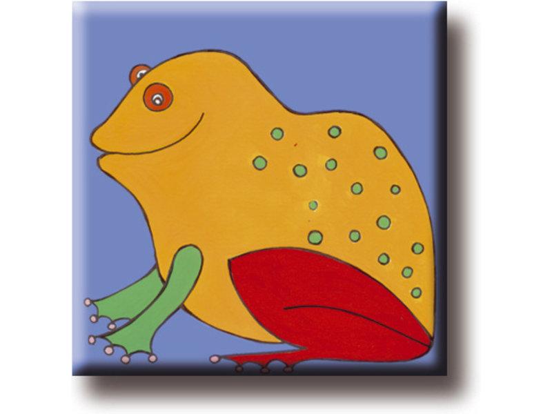 Kühlschrankmagnet, Frosch, Illustration