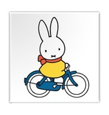 Fridge magnet, Miffy is cycling