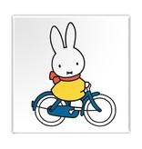Kühlschrankmagnet, Miffy fährt Fahrrad