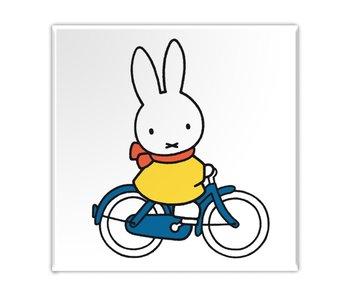 Aimant de réfrigérateur, Miffy fait du vélo