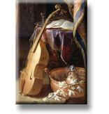 Imán de nevera, violín con arco