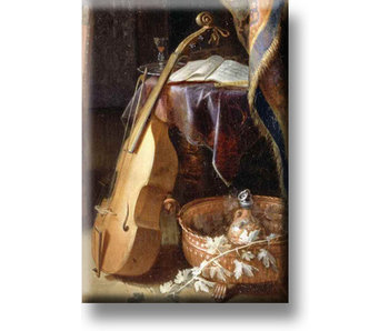 Fridge magnet, Violin with bow