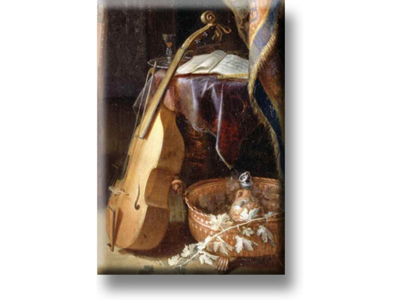 Kühlschrankmagnet, Geige mit Bogen