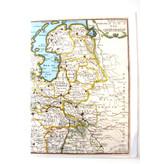 Doppelkarte, historische Karte der Niederlande