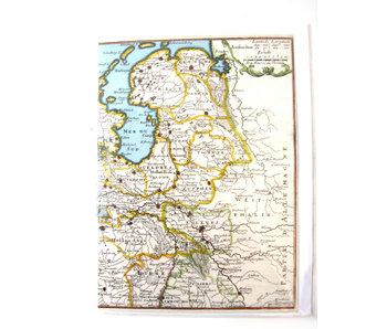 Doble tarjeta, Mapa histórico de los Países Bajos