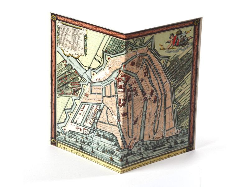 Doppelkarte, historische Karte Amsterdam 1585