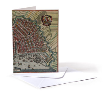 Card, Historical Map Amsterdam 1615