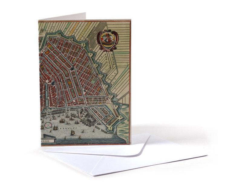 Doble tarjeta, Mapa histórico de Amsterdam 1615