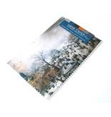 Lens cloth, 10 x 15 cm, Winter landscape with skaters