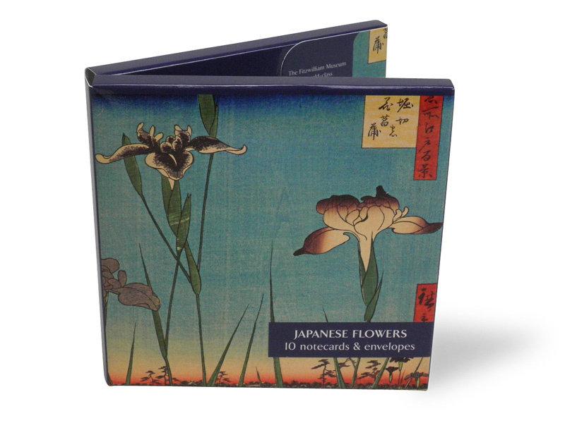 Kartenordner, japanische Blumen, Fitzwilliam