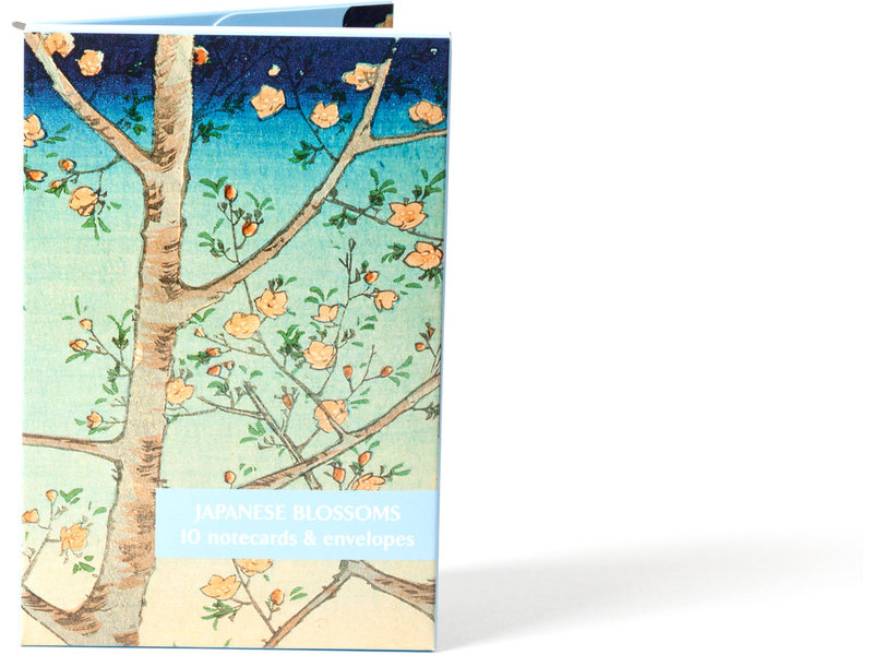 Card Wallet, Notecards Japanese Blossoms,Fitzwilliam-No9